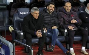 Quique Setién happy with first victory in the Barcelona dugout