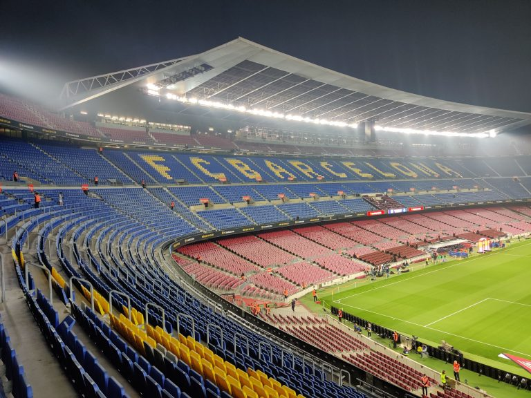 Barcelona's stadium, the Camp Nou, in October 2019 / OMAR HAWWASH/BLAUGRANAGRAM